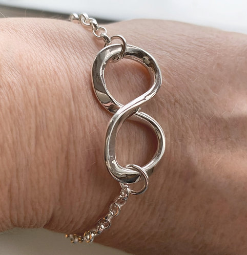 Sterling Silver Infinity Symbol Bracelet by Alison Crowe