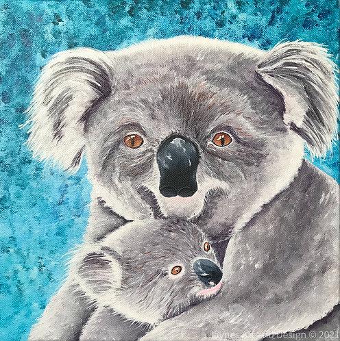 Cuddles with Mum by Jayne Crow