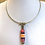 Thumbnail: Glass lampwork bead silver chain necklace by Norma Murray