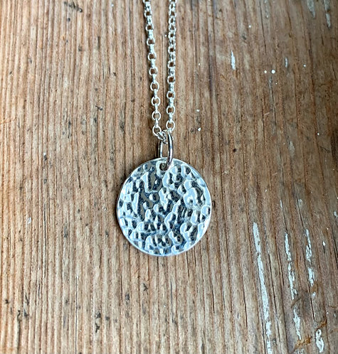Sterling Silver Disc Pendant by Alison Crowe