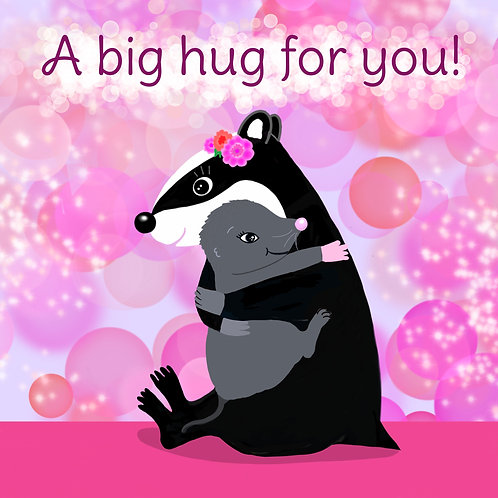 Greetings Card of A Big Hug For You by Julie McDonald