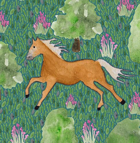 Haflinger Horse Greetings Card by Samantha Hall