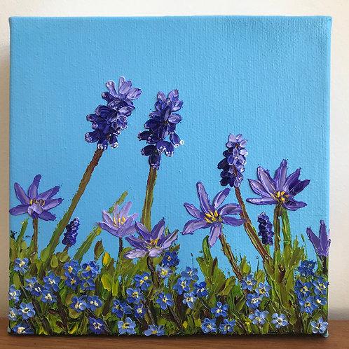 Purple Spring Flowers by Emily Grocott