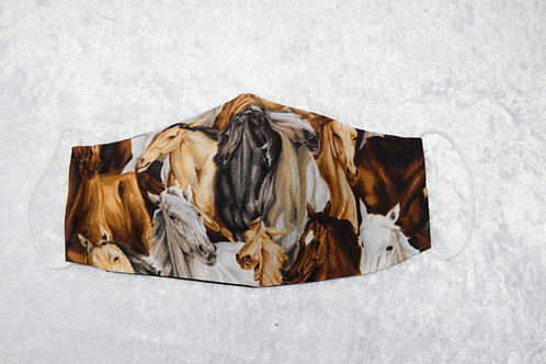 Face Mask with Horse Pattern by Pamela Holmes