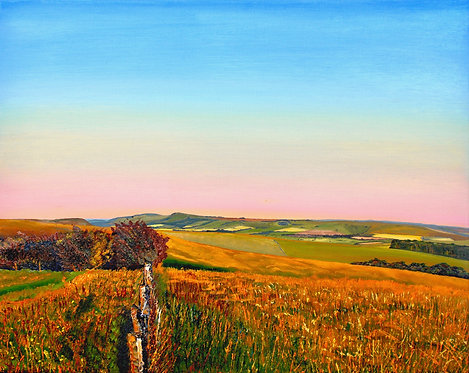 Greetings Card of Golden Hour by Emily Grocott