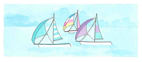 We Are Sailing print by Clare Harms