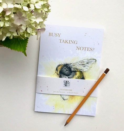 'Busy Taking Notes' Notebook  by Emma Gillo