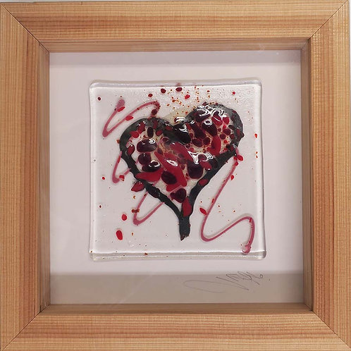 Red Glass Heart by Jill Iliffe