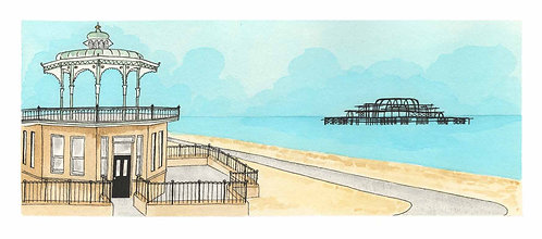 Summer Bandstand print by Clare Harms