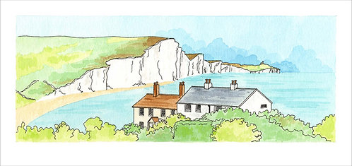 Greetings Card Seven Sisters by Clare Harms