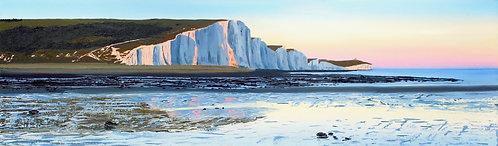 Giclee Print of Evening Light on the Seven Sisters by Emily Grocott
