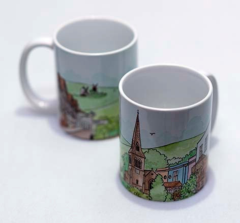 'Hurstpierpoint' Mug by Clare Harms