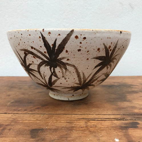 Bowl with palm design by Nicola Gillis
