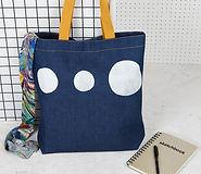 Denim Futurist Bag Contents Jo Saunders