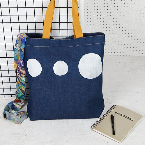 Futurist Denim Tote Bag by Jo Saunders