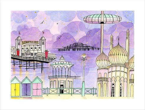 Brighton Twilight by Clare Harms