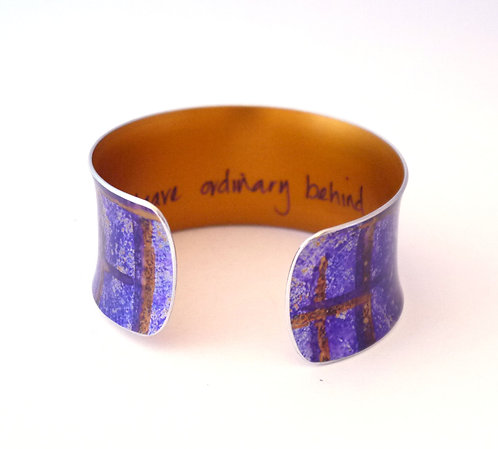 'Leave Ordinary Behind' Cuff Bracelet by Miranda Peckitt