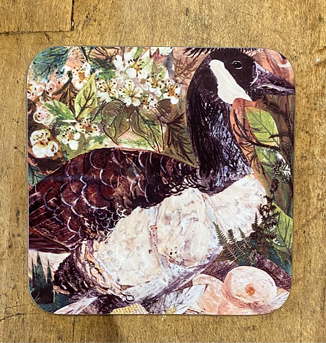 Canadian Geese Coaster by Clare O'Neill
