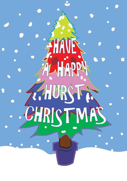 Greetings Card Hurst Christmas Tree by Duncan Allan