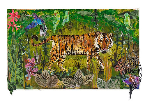 Mounted Print of Tiger by Clare O'Neill