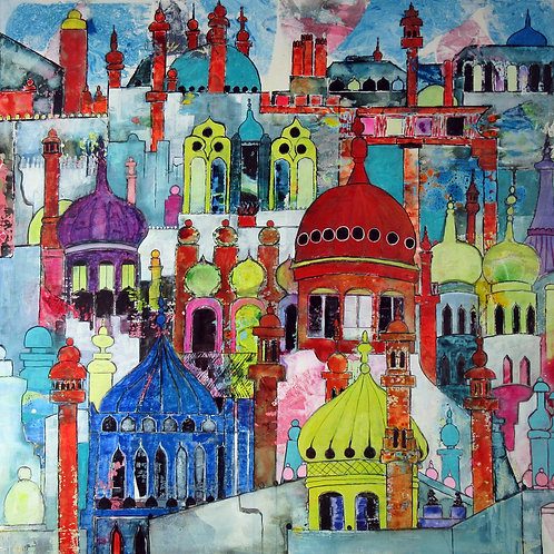 Must Be Brighton Greetings Card by Alison Sibley