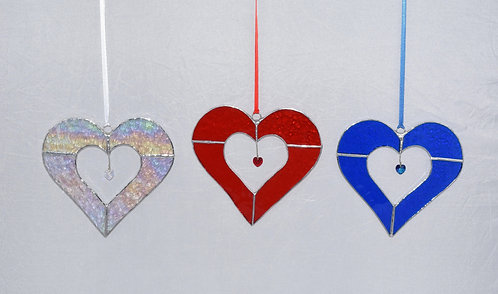 Stained Glass Large Heart by Pam Holmes