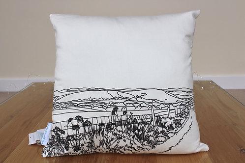 Wolstonbury Hill Cushion by Emily Grocott