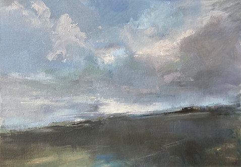 Fleeting Light, Saddlescombe by Kate Harries
