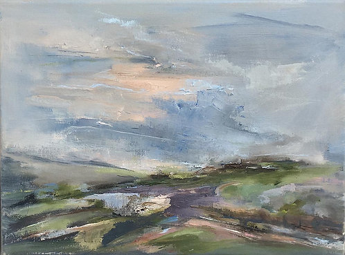Saddlescombe Pink Light by Kate Harries