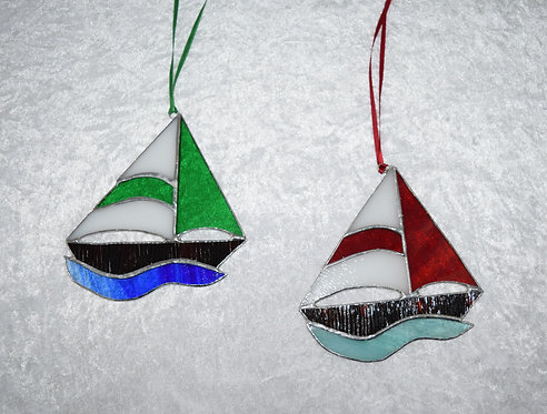 Stained Glass Boat by Pam Holmes