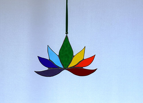Stained Glass Lotus Flower by Pam Holmes