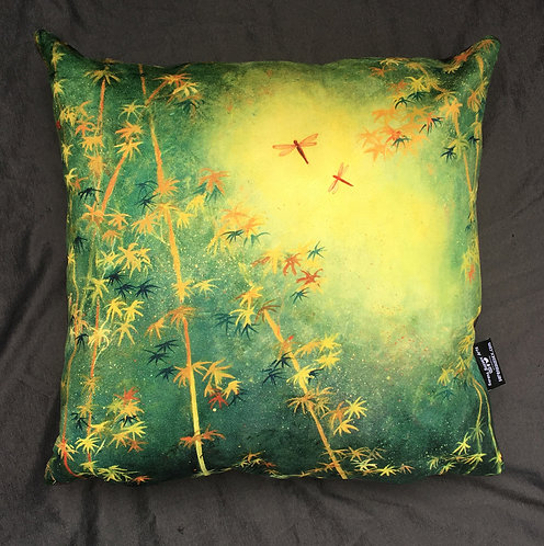 Dragonflies Cushion by Serena Sussex