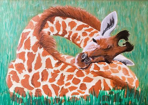 Sleeping Giraffe by Jayne Crow