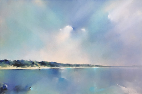 Blues at Saunton Sands by Claire Grose