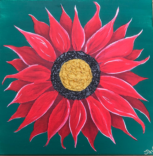 Christmas Sunflower by Jayne Crow