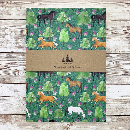 Horse A5 Lined Notebook by Samantha Hall