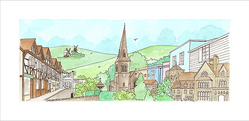 Hurstpierpoint framed print by Clare Harms