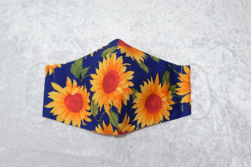 Face Mask with Sunflower Pattern by Pamela Holmes