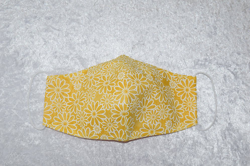 Face Mask with Daisy Pattern by Pamela Holmes