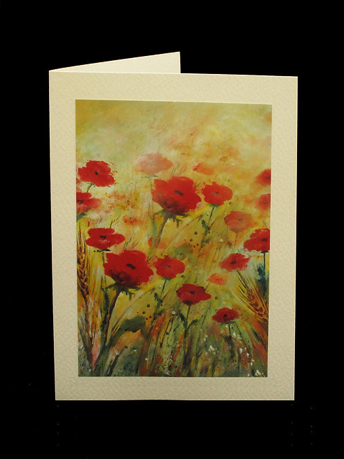 Poppies Greetings Card by Serena Sussex