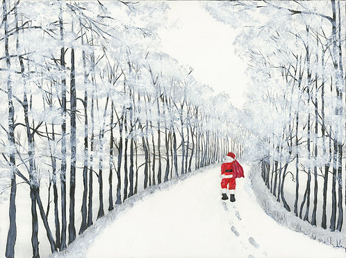 Lost Santa Greetings Card by Jayne Crow