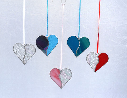 Stained Glass Medium Heart by Pam Holmes