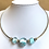 Thumbnail: Glass lampwork bead silver choker by Norma Murray