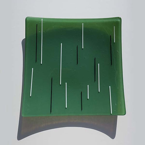 Green Glass Dish by Jill Iliffe