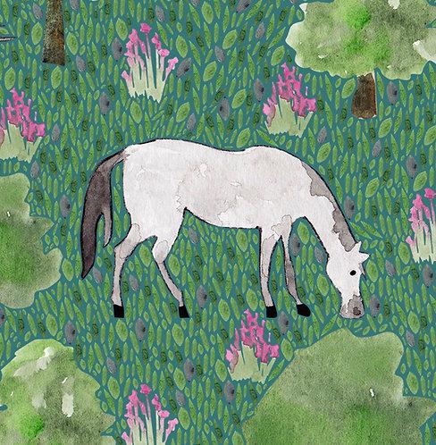 Andalusian Horse Greetings Card by Samantha Hall