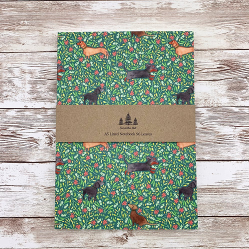 Dachshund A5 Lined Notebook by Samantha Hall