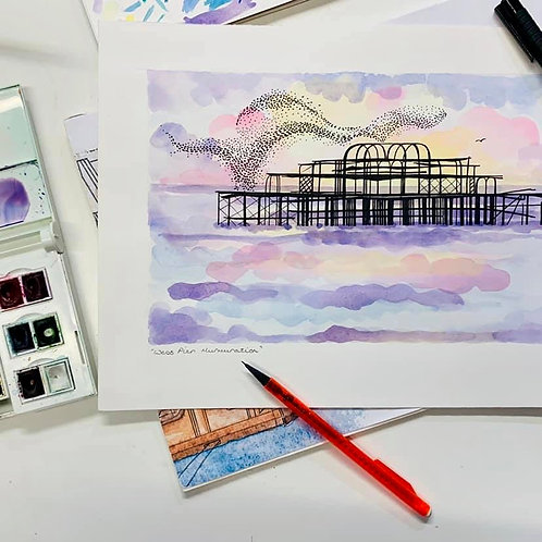 Watercolour West Pier Workshop Ticket