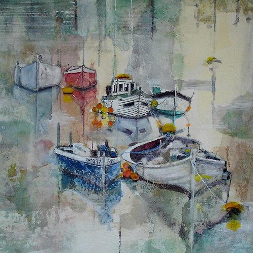 Boats at Shoreham Canvas Print by Alison Sibley
