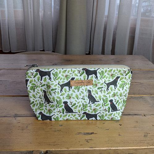 'Black Labrador' Cosmetic Bag by Samantha Hall