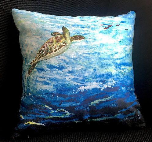 Turtle Swimming Cushion by Serena Sussex